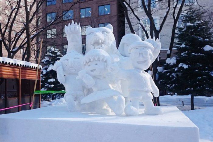 市民雪像_ちびまるこちゃん