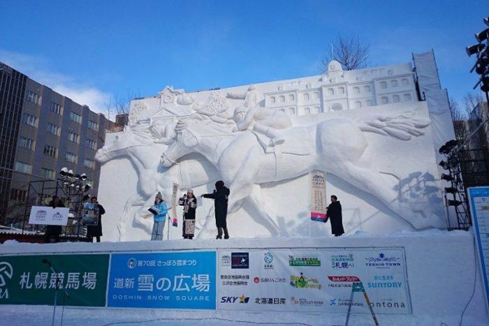 大雪像_サラブレッド